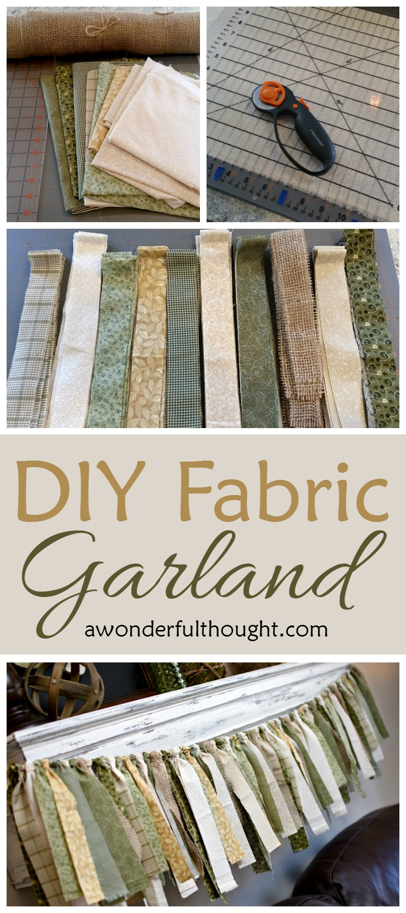 Diy Fabric Garland A Wonderful Thought