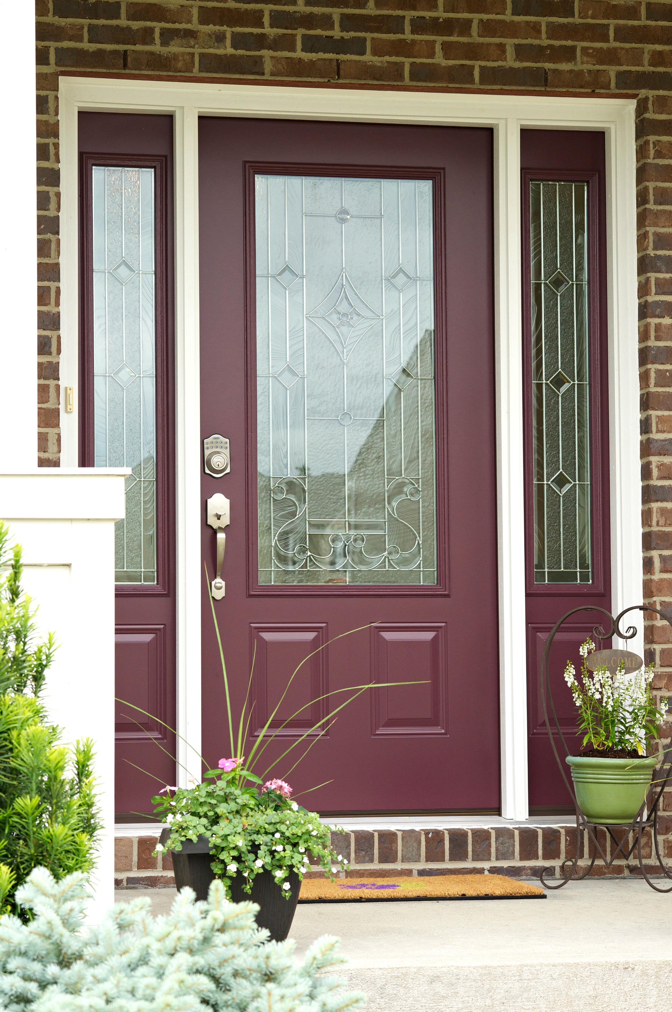 New front door reveal home exterior a wonderful thought for New exterior door